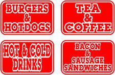 Medium Catering Highlights, Burger Van Stickers Catering Trailer, Takeaway Decal