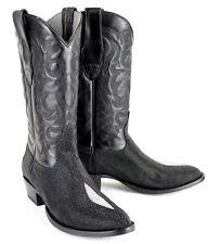 Men's Los Altos Genuine Handmade Single Stone Stingray Round Toe Western Boots