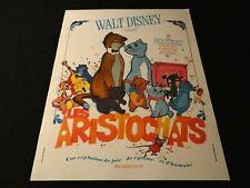 LES ARISTOCHATS affiche cinema walt disney