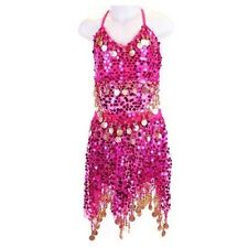 Girls Belly Dance Costume Bollywood Halloween Outfit  Indian Dance Top+Skirt