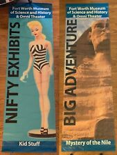 Vintage Barbie / Egyptian Sphinx vinyl street lamp ad sign banner 95 x 29.25