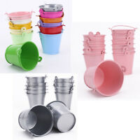 12x Mini Cute Metal Bucket Tin Candy Chocolate Box Wedding Favors Party Shower