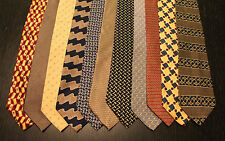 Lot of 11 NEW Perry Ellis Designer Neck Ties with Patterns L048