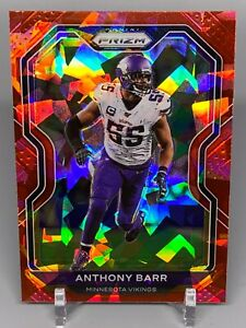 2020 Prizm Football - Ice Red Parallel - Anthony Barr - #221 - Vikings