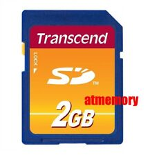 Transcend 2GB SD Secure Digital Memory Card Retail Pack Genuine