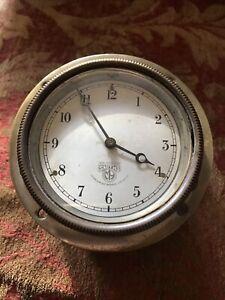 Smiths Clock 4 inch Brass Hinged Case Working.
