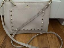 Kate Spade Nude Beige Shoulder Bag Handbag Purse Leather Studs