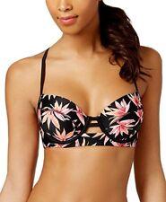 Hula Honey Tropical Print balconet underwire bikini top S juniors