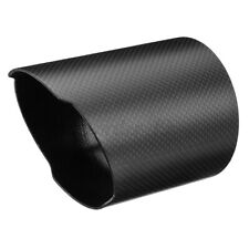 89mm Carbon Fiber Exhaust Muffler Tip Pipe Cover Housing Straight Car For Ford