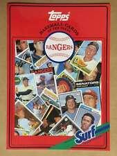 Topps Surf Baseball Card Book - Texas Rangers Mlb 1987 Mint