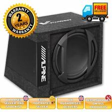 "Alpine SWD-355 - Car 12"" Active Amplified Subwoofer Box 650 Watts"