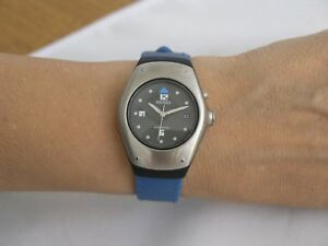 Seiko womens watches kinetic blue rubber strap stainless steel SWP269