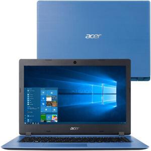 "Acer Aspire 1 A114 14"" Laptop Notebook Intel Celeron 4GB RAM 64GB eMMC Blue"