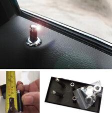 4x Auto Autoinnenraum Echte Kohlefaser Türschloss Knopf Pins Griffe mit Zubehör