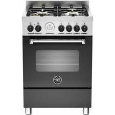 Bertazzoni MAS60-4-MFE-S-NEE Free Standing Dual Fuel Cooker with Gas Hob 60cm