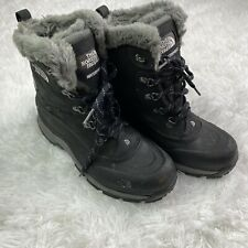 The North Face Womens 9.5 Black McMurdo II Waterproof Winter Snow Boots