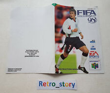 Nintendo 64 N64 Fifa Road To World Cup 98 Notice / Instruction Manual