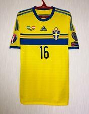 Match worn issue shirt camiseta maglia jersey trikot Sweden Wernbloom adizero