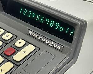Vintage Burroughs C 3161 Nixie Tube 12 digit Display Adding Machine calculator