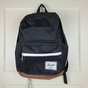 HERSCHEL SUPPLY CO. Classic Black Backpack School Striped Red Interior