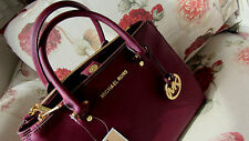 🍒Chocolate Cherry🍒 100% Michael Kors SUTTON BNWT Saffiano Leather Satchel Bag
