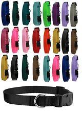 Dog Collar Shelter Rescue Vet Bulk Pack 25 Assorted Color Adjustable Choose Size