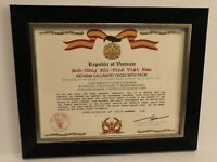 South Vietnam Gallantry Cross Certificate w/Palm (T3) FREE PRINTING