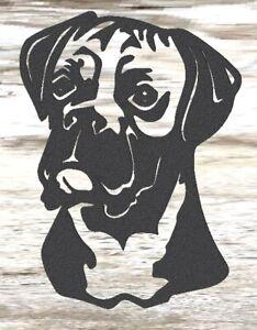 Boxer Dog - Steel Metal Garden Wall Art