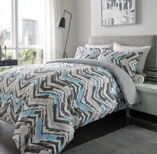 Parures et housses de couette bleu avec des motifs Géométrique en 100% coton