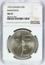 1975 Canada Montreal Olympics Marathon Silver $5 Coin - NGC MS 67 - KM# 98