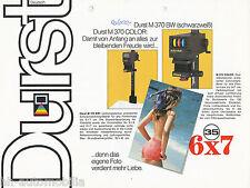 Prospekt Durst Vergrößerer M 370 BW + Color 7/83 brochure enlarger 1983 Germany