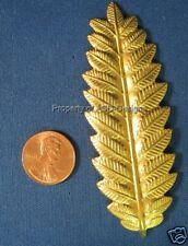 6pc Raw Brass Tooth Edge Leaf Leaves Finding 5376