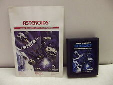 Atari 2600 Game Cartridge Asterroids W/Manual