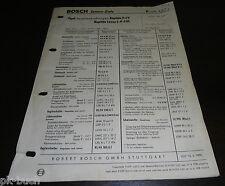 Bosch Servicio Lista Capitán P-Lv Motor 2,5 Litro 6 Cilindros Baujahr 1958-1959