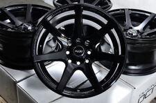 15x8 Black Wheels Rims 4x100 Fit Honda Civic Accord Nissan Sentra Altima Corolla