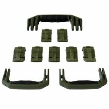 New Pelican OD Green 1650 replacement latches (7) & handles (3) - kits.