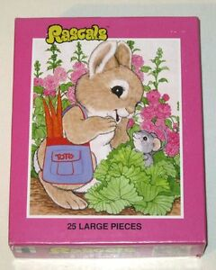 Vintage 1982 RASCALS Jigsaw Puzzle! Bunny Rabbit & Mouse! New! (Rainbow Works)