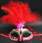 SEXY Maschera Per Occhi Veneziana da viso Festa Di Carnevale Piume 6 Colori