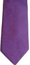 "Brooks Basics Men's Silk Tie 59.5"" X 4"" Navy/Red Geometric"