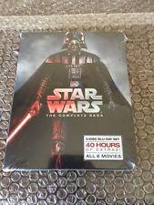 STAR WARS THE COMPLETE SAGA 1,2,3,4,5,6 (9 BLU-RAY Discs Box Set)