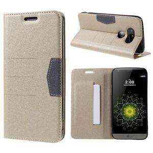LG G5 G4 Wallet Flip Case Cover Premium PU Bumper Leather Back Card Holder Stand