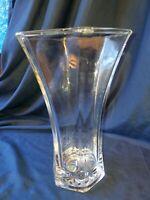 """VASE by HOOSIER GLASS 4041 10"""" tall Clear Heavy Duty Glass"""