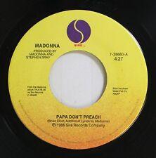 Rock 45 Madonna - Papa Don'T Preach / Pretender On Sire