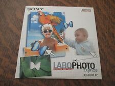 pc cd-rom sony labophoto express limited edition windows 98/XP