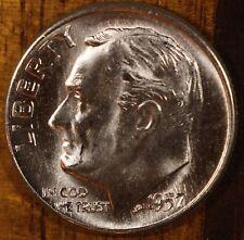 1957 D Roosevelt Dime CH BU  90% Silver US Coin