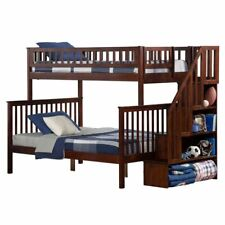 Atlantic Furniture Woodland Twin Over Full Staircase Bunk Bed