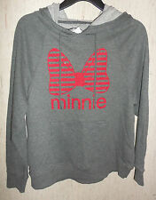 NWT WOMENS Disney Minnie Mouse CHARCOAL GRAY HEATHER HOODIE / SWEATSHIRT  SIZE M