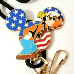 Disney Cast Member 4th of July GOOFY Bolo Lanyard 3D Patriotic LE 1500 13255