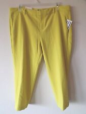 Old Navy Womens 18 Regular M/R Harper Lt. Pea Green Pants Poly Rayon Spandex New