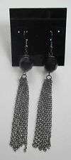 cc multi chain dangle tassel black bead Earrings claire's jewelry mary kate ashl